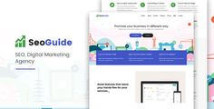 Seoguide-Digital Marketing Agency . Seoguide-Digital has features such as High Resolution: Yes, Compatible Browsers: IE10, IE11, Firefox, Safari, Opera, Chrome, Compatible With: Bootstrap 3.x, Columns: 4+