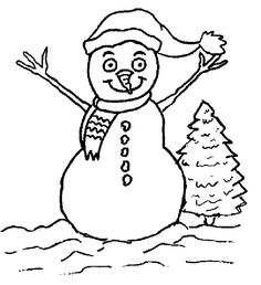 Coloring Pages of Snowman