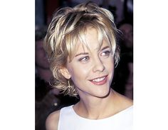 @Byrdie Beauty - Meg Ryan's Piece-y Bob    Truly a signature look, Meg Ryan's bob is a more piece-y, layered version of her choppy locks in her breakout role in Sleepless in Seattle.