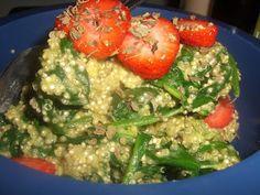 AfroVeganChick: Avocado Quinoa, Spinach, & Strawberry Salad