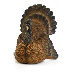 Shea's Wildflower Turkey Figurine ($89) ❤ liked on Polyvore featuring home, home decor, harvest brown, turkish home decor and turkey figurine