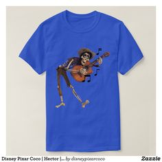 Disney Pixar Coco Hector Playing Guitar T-Shirt , Web Design Tutorials, Front Design, Playing Guitar, Dark Colors, Disney Pixar, Tshirt Colors, Colorful Shirts, Fitness Models, Casual