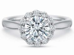 FlushFit™ Round Halo with Plain Shank Engagement Ring    Collection: FlushFitStyle: 7776Metal: 18K White GoldDescription: FlushFit™ Round Halo with Plain Shank Engagement Ring, 0.36CTWDiamond Weight: 0.36ctAvailable Metal: 14K, 18K and Platinum