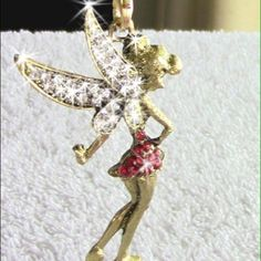 ((LAST 1 ! ))  Brand  Beautiful Dancing Red Dressed Fairy Necklace❕ Unknown Jewelry Necklaces