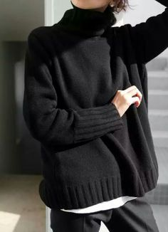 Black sweater.