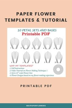 With these paper flower printable templates, you can save a lot of money with making paper flowers. My paper flower tutorial will show you how to make 3d paper flowers easy and fast with Printers. Click through for more views!!!  #paperflowerprintable #paperflowerprintabletemplate #paperflowertemplates  #paperflowertutorial #paperflowerseasy #3dpaperflowers #makingpaperflowers #hugepaperflowers #bigpaperflowers Paper Flower Templates Pdf, Flower Petal Template, Flower Svg, Paper Flower Tutorial, My Flower, Easy Paper Flowers, Giant Paper Flowers, Printable Templates, How To Make Paper