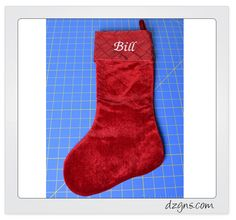 It's that time of the year again….time to handle the tricky task of stitching a Christmas stocking. Every year I am approached by customers who need their family Christmas stockings personalized. T...