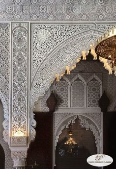 Inspiration for the Kasir of Kings - photographer credited on image Art Et Architecture, Mosque Architecture, Beautiful Architecture, Beautiful Buildings, Moroccan Design, Moroccan Decor, Islamic Art Pattern, Moroccan Interiors, Islamic Wallpaper