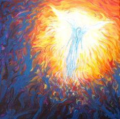 Angel study, acrylic on canvas Wakefield Artist Tim Burton.