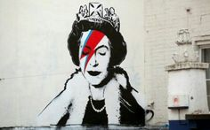 The Queen as Ziggy Stardust by Banksy