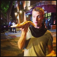 That's one giant slice! But it looks like Casey is up for the challenge. #ChicagoFire