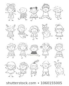 Similar Images, Stock Photos & Vectors of hand drawing cartoon happy kids playing - 148705514 | Shutterstock
