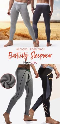 bda168548c Men s Comfy Modal Thermal High Elasticity Breathable Sleepwear Long John  Underwear.  casual  menswear