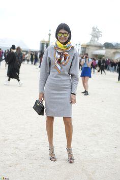 Giovanna Battaglia, autumn outfit