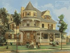 Artecy Cross Stitch. Free cross stitch patterns every two weeks. FREE victorian house right now!