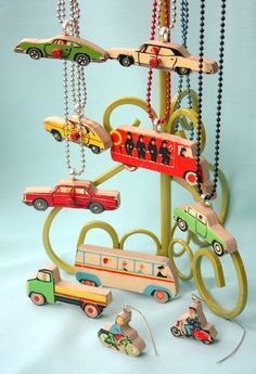 Vintage puzzle pieces turned into necklaces and earrings