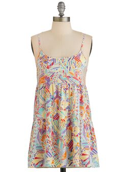 Feel My Sunshine Tank. Its impossible to hide the glowing grin you sport alongside this colorful, tiered tank! #multi #modcloth