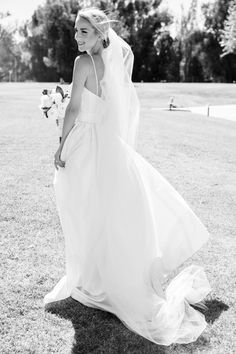 """Real Nouvelle Amsale Wedding I """"Gracie"""" - Spaghetti strap lace cup ballgown with silk organza skirt."""