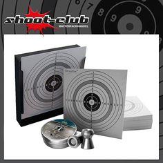 1 Kugelfang + H&N Crow Magnum Kal. 4,5 mm + 120 ShoXx.® Zielscheiben  Set: Kugelfang / Scheibenkasten + 500 Stück H&N Crow Magnum Luftgewehr Diabolos Kaliber 4,5 mm + 120 passende ShoXx.® shoot-club Zielscheiben 14 x 14cm.