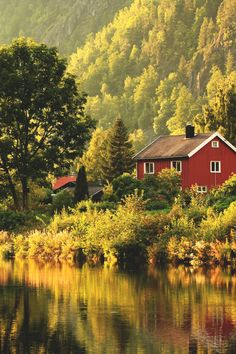 red cottage by the water, norway Beautiful Norway, Beautiful World, Wonderful Places, Beautiful Places, Into The Wild, Lofoten, Country Life, Beautiful Landscapes, The Great Outdoors