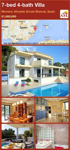 7-bed 4-bath Villa in Moraira, Alicante (Costa Blanca), Spain ►€1,600,000 #PropertyForSaleInSpain