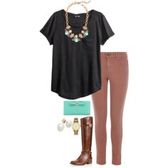 Fall Teal and Maroon. by the-southern-prep on Polyvore featuring H&M, Oasis, Kate Spade, J.Crew and Tory Burch