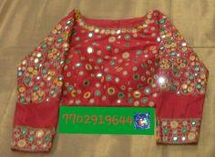 Rawsilk blouse with glass mirror work 7702919644