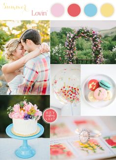 Casual and Colorful Summer Wedding Inspired by Grant Harrison | See More! http://heyweddinglady.com/casual-and-colorful-summer-wedding-inspiration-based-on-grant-harrison/