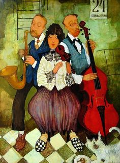 by Otar Imerlishvili , Art And Illustration, Musik Illustration, Music Artwork, Art Music, Art Web, Music Images, London Art, Naive Art, Folk Art