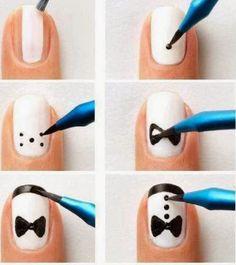 Una idea para tus uñas, sencilla y padre. ¿te gusta?