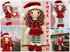 Christmas Crochet Patterns, Crochet Patterns Amigurumi, Crochet Disney, Yarn Bee, Metallic Yarn, I Love This Yarn, Half Double Crochet, Stitch Markers, Beautiful Christmas