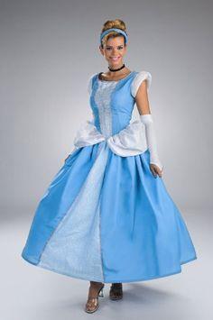 DIS5970 Cinderella Prestige Adult Costume Disguise Costumes //. amazon.com  sc 1 st  Pinterest & Disney Adult Cinderella Prestige Halloween Costume 12-14 Size ...