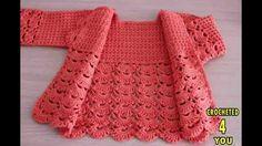 جاكيت بيبي كروشيه Baby crochet jacket
