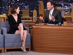 Leggy look: Kristen's dress made the most of her long legs and her slender physique...
