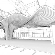 One Main Office Renovation: Project: One Main office renovation Architect: dECOi Architects Project location: Cambridge, MA Poject date: 2009 This pe. Parametric Architecture, Arch Architecture, Parametric Design, Architecture Diagrams, Architecture Portfolio, Building Facade, Green Building, High Hd Wallpaper, Airport Design