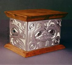 Bear and Raven Bentwood Box by David Neel