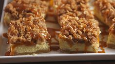 Caramel Apple Cheesecake Bars  - Delish.com