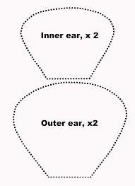Resultado de imagem para molde de orelha de macaco