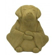 Zen Dog Stone Garden Statue -- NEED this!