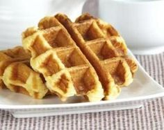 Light waffles without sugar or butter - Gâteaux - Dessert Ww Desserts, Dessert Recipes, Weigth Watchers, Healthy Snacks, Healthy Recipes, Pancakes And Waffles, 100 Calories, Butter, Coco