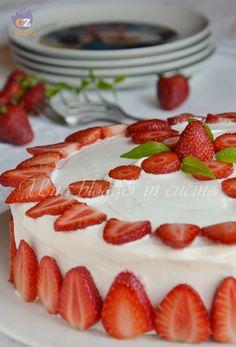 torta paradiso con crema allo yogurt e fragole (6)