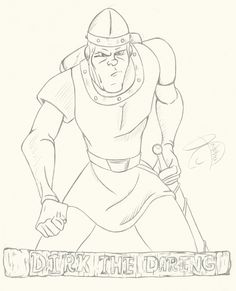 """#RCBrock Here! Its a simple drawing I made for you all today. Its """"Dirk"""" from #DragonsLair"""