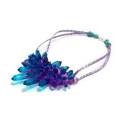 Blueberry Crystal Necklace by Kate Rohde.