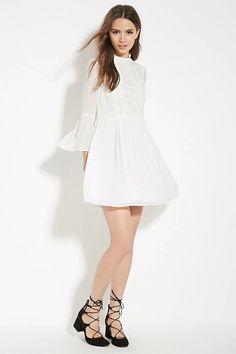 Contemporary Shirred Lace Dress #f21contemporary