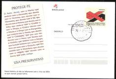 Inteiro postal da Fundação Portugusesa A Comunidade contra a Sida, lançado em Coimbra, no dia 12/12/2012. Teve associado um carimbo comemorativo