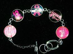 Seattle Seahawks pink ribbon inspired bracelet by KaitsBows