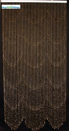 Coming Soon Raindrops Beaded Curtain   Gold   3 Ft X 6 Ft