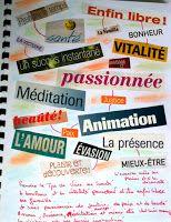 ATELIERS DE JOURNAL CREATIF: Collage de mots