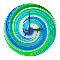 Shop Colorful Wall Clocks created by idesigncafe. Contemporary Clocks, Wall Clock Design, Home Accents, Old And New, Blue Green, Wall Clocks, Tic Toc, Colorful, Therapy