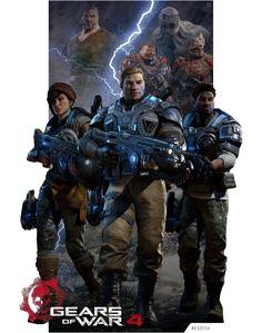 Gears Of War 4 E32016 by KindratBlack.deviantart.com on @DeviantArt